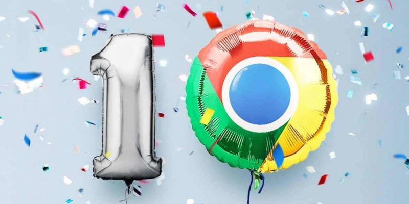 Google Chrome celebrates it's 10th Birthday