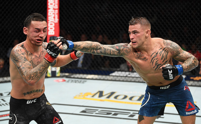 Dustin Poirier claims the title of world champion by defeating Max Holloway