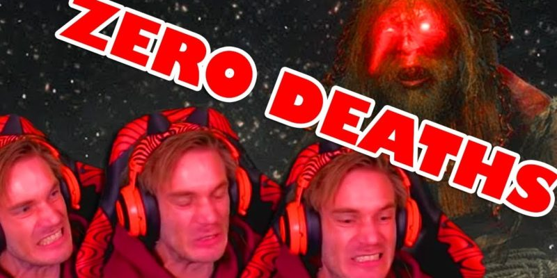 PewDiePie plays Sekiro and takes Zero Death Challenge