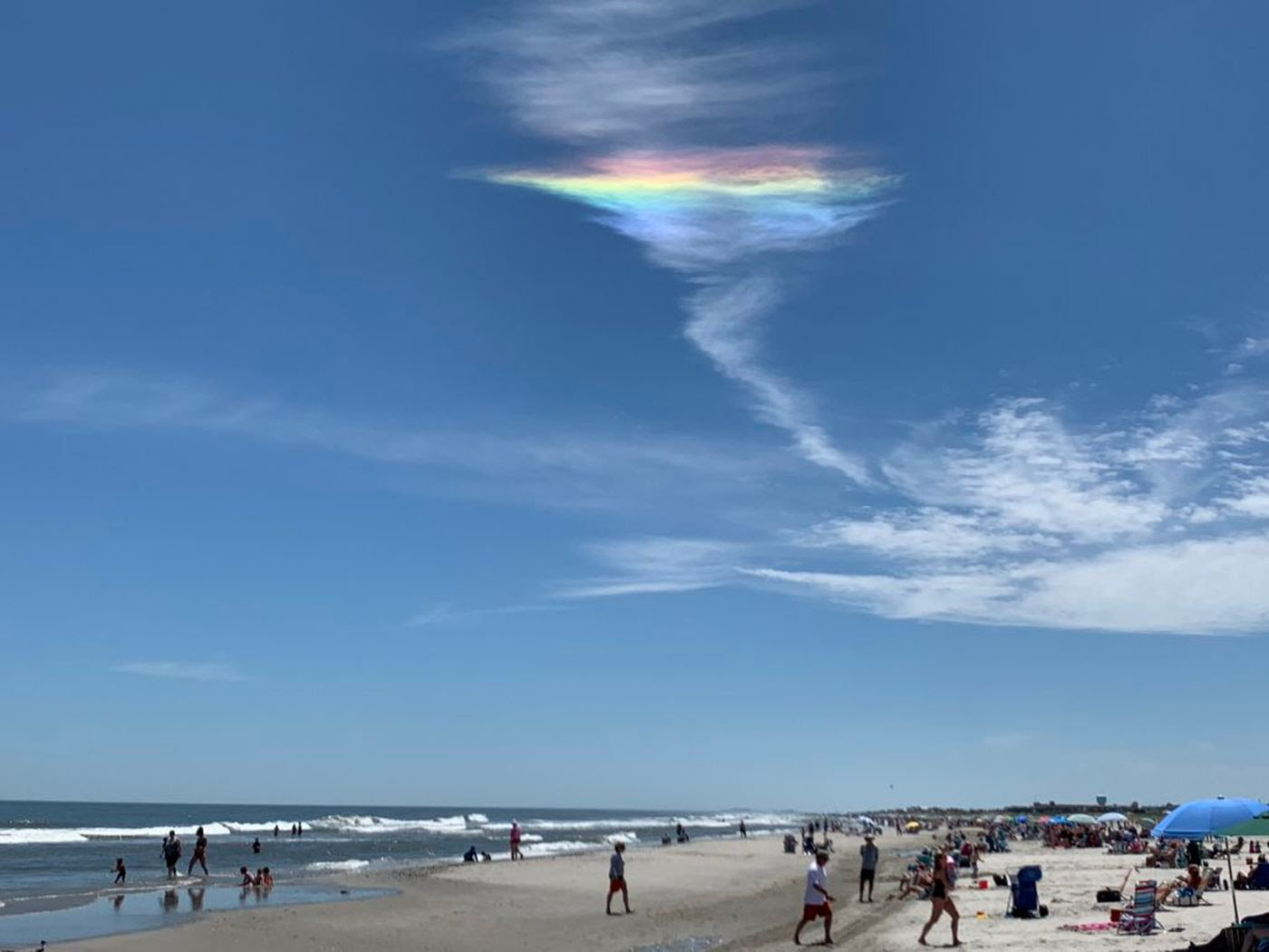 New Jersey Shore Had A Very Unsual Natural Phenomenon on Sunday: Details of the Fire Rainbow Ahead