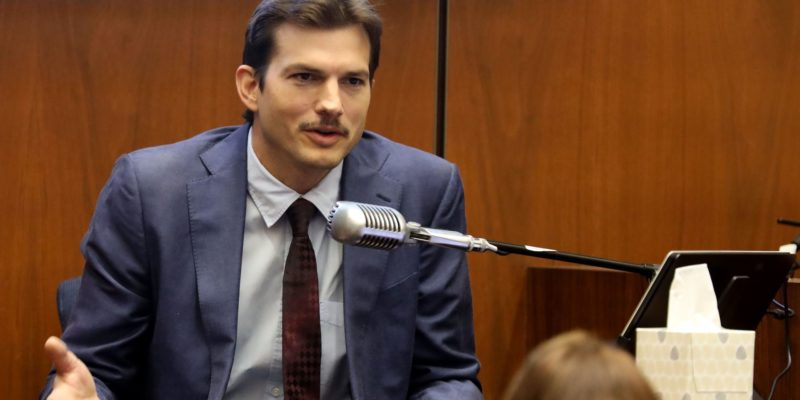 Ashton Kutcher confuses blood stains for vine stains