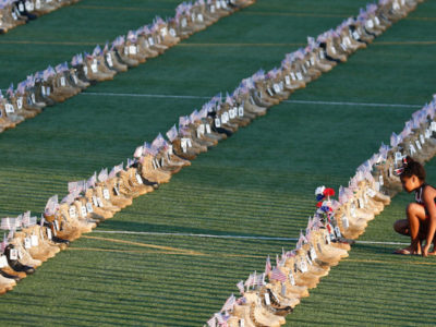 Fort Bragg has got 7,500 Boots to honor US Service members killed since 9/11
