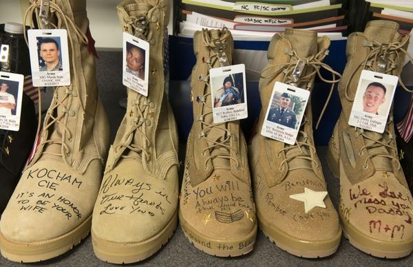 Fort Bragg has got 7,500 Boots to honor US Service members killed since 9:11-the fayetteville observer