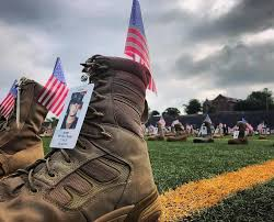 Fort Bragg has got 7,500 Boots to honor US Service members killed since 9:11