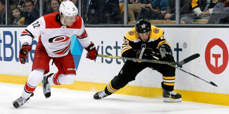 NHL playoffs 2019 : Boston Bruins defeat Carolina Hurricanes in a 5-2 match
