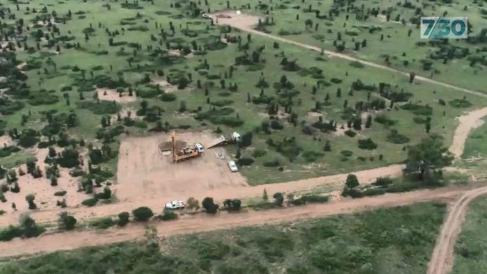 Drone footage shows Adani's illegal work at Carmichael coal mine site