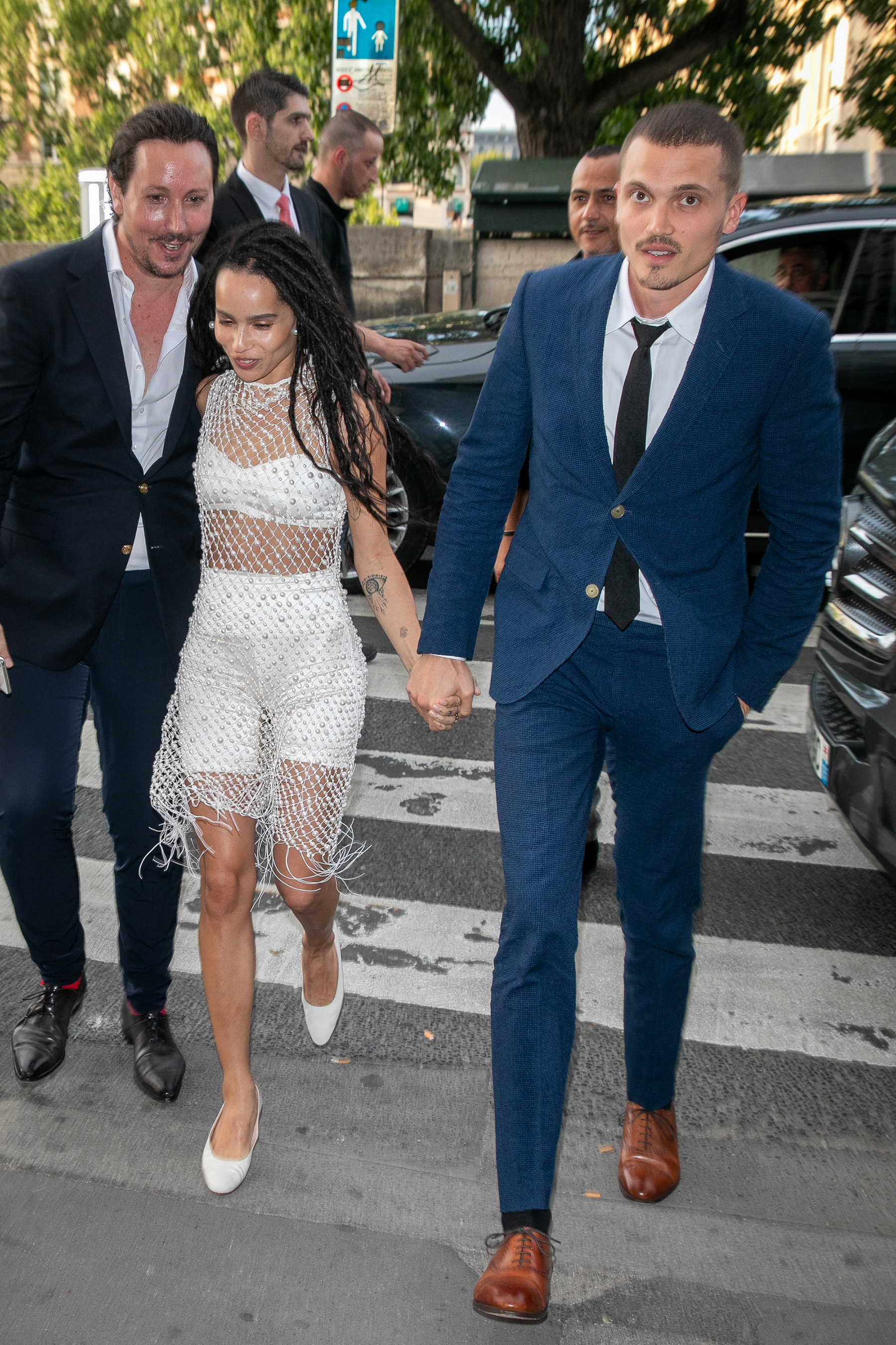 Zoë Kravitz Hits Up Her Pre-Wedding Bash with Mom and Dad