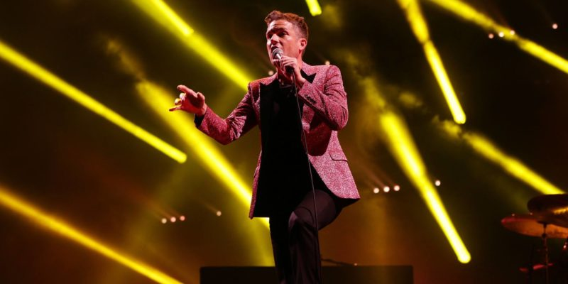 The Killers performs at the Glastonbury making biggest crowd of the festival