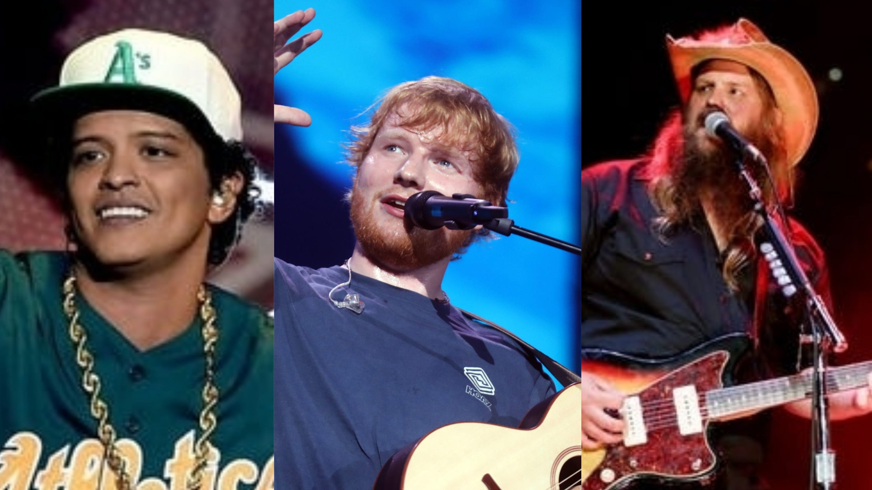 Blow a trio song of Chris Stapleton, Ed Sheeran and Bruno Mars