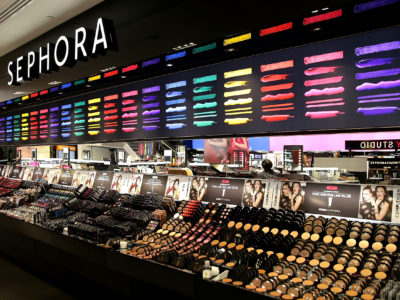 Sephora CBD-formulated products in Sephora stores
