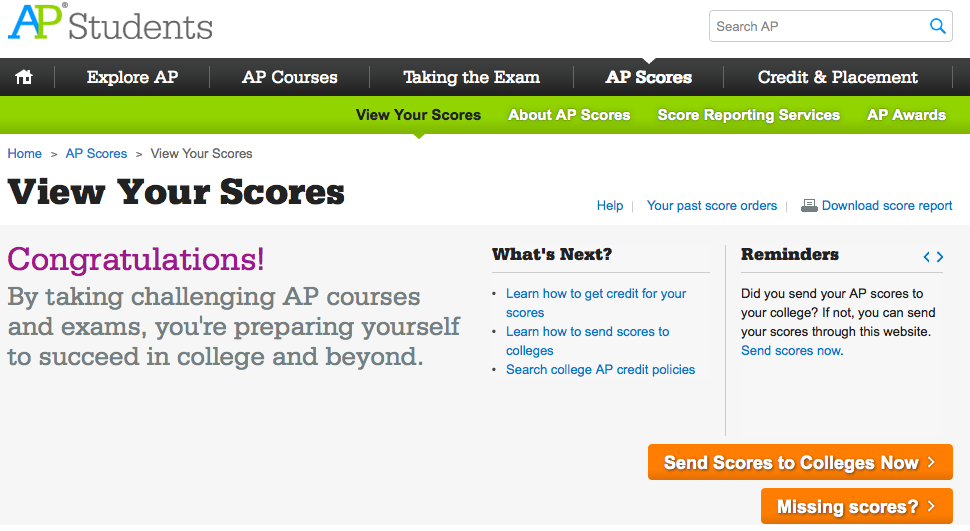 Here's How You Can Get Your Advanced Placement Scores right now