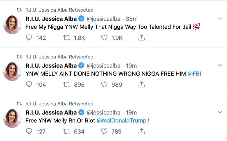 Jessica Alba hacked twitter account sends out homophobic, racist messages: See details