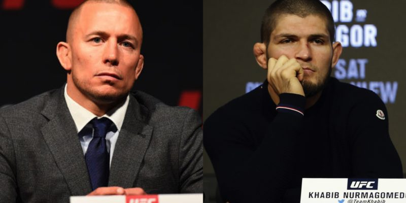 UFC legend George St Pierre may come out of retirement to fight Khabib !