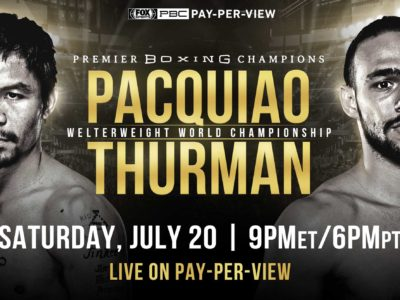 Manny Pacquiao vs Keith Thurman Welterweight Championship