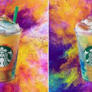 Tie-Dye : A new creation from Starbucks' Frappuccino