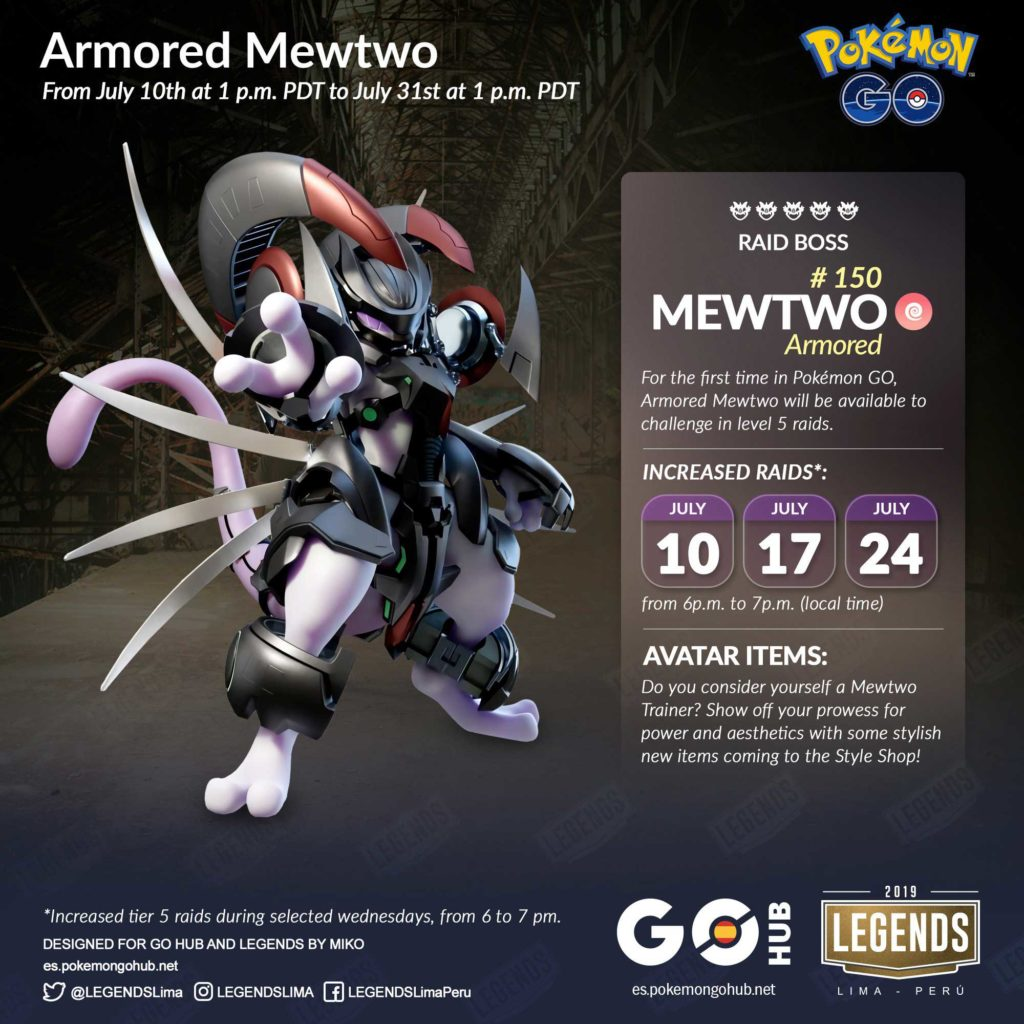 Pokemon GO: Armored Mewtwo gets a new raid position for this summer