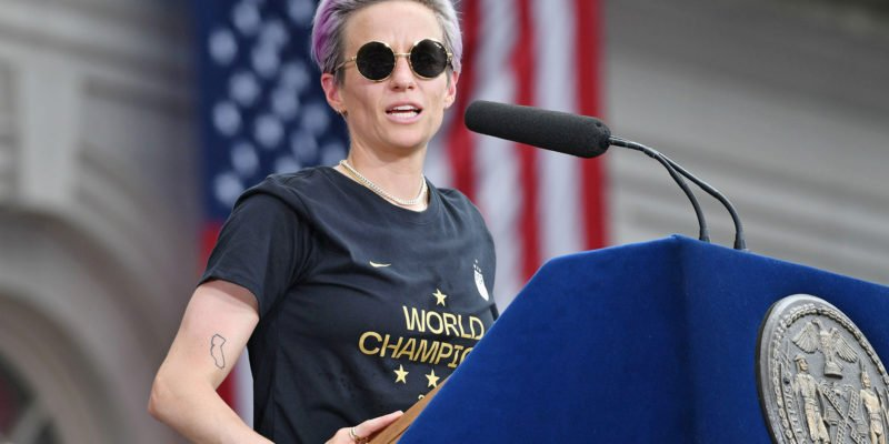 Megan Rapinoe back in the news over 'disgusting' Trump comments