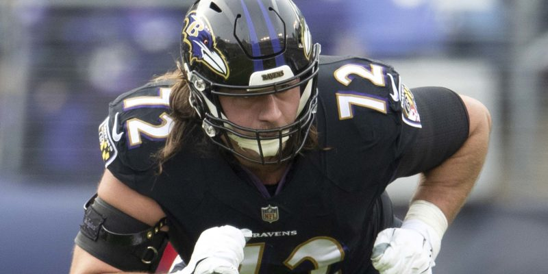 NFL guard Alex Lewis announces his release from Baltimore Ravens