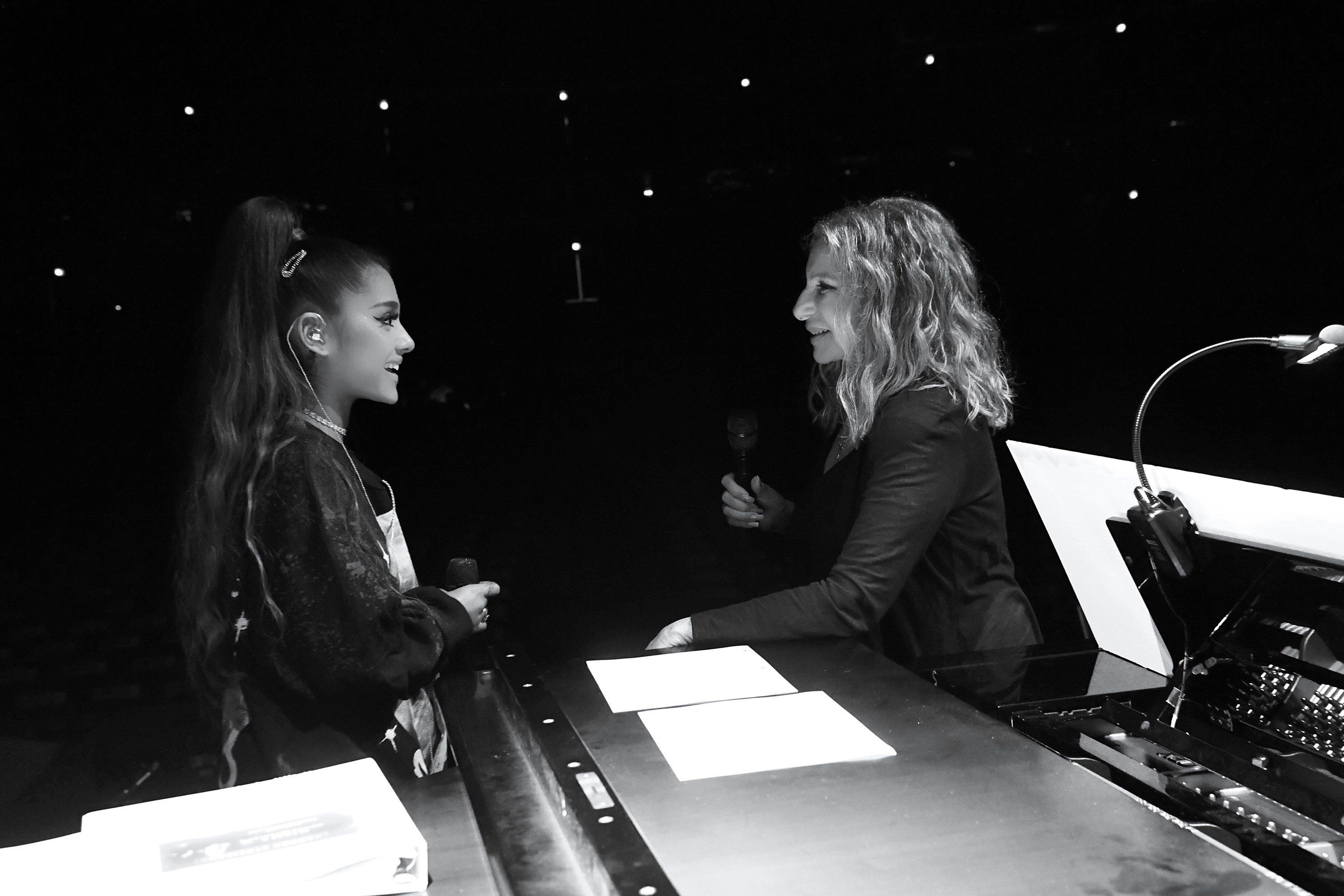 Why did Ariana Grande breakdown after performing with Barbra Streisand?