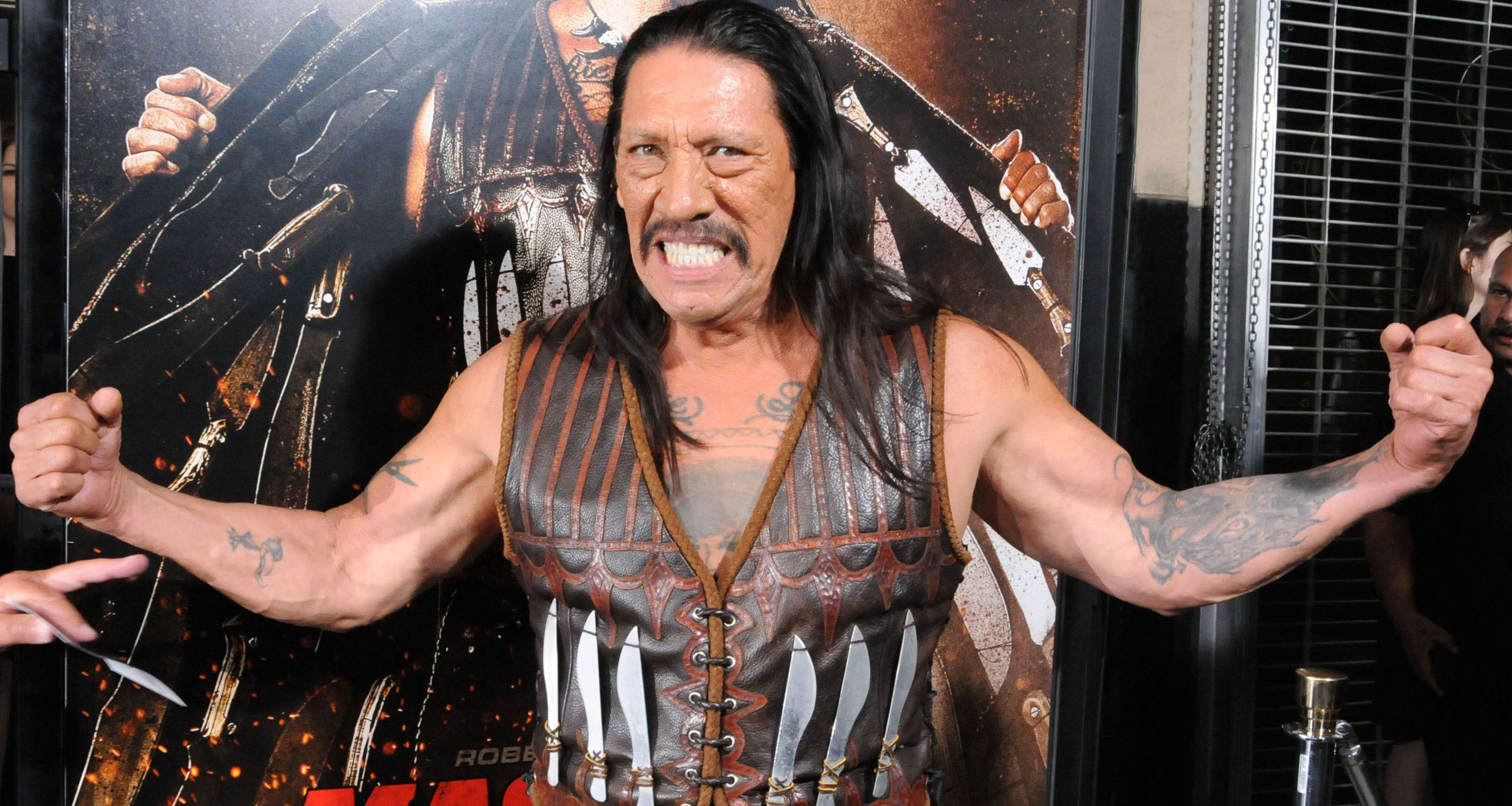 Danny Trejo rescues trapped child from car havoc
