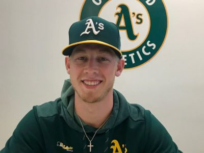 Fan who pitched at 96 mph now signed by Oakland A's