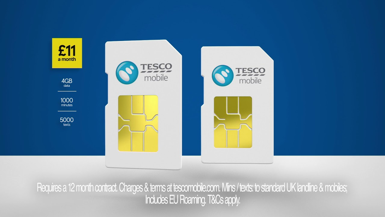 Tesco Mobile Sim-Only Monthly Deals