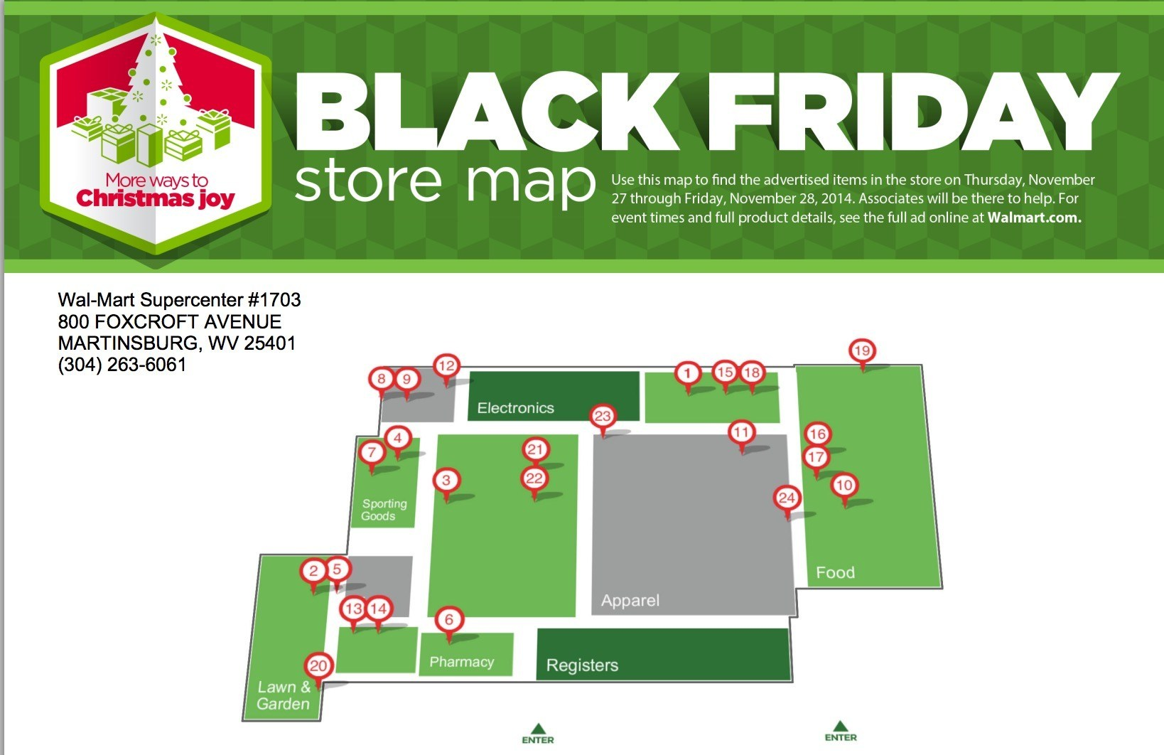 Walmart Black Friday Party and Maps