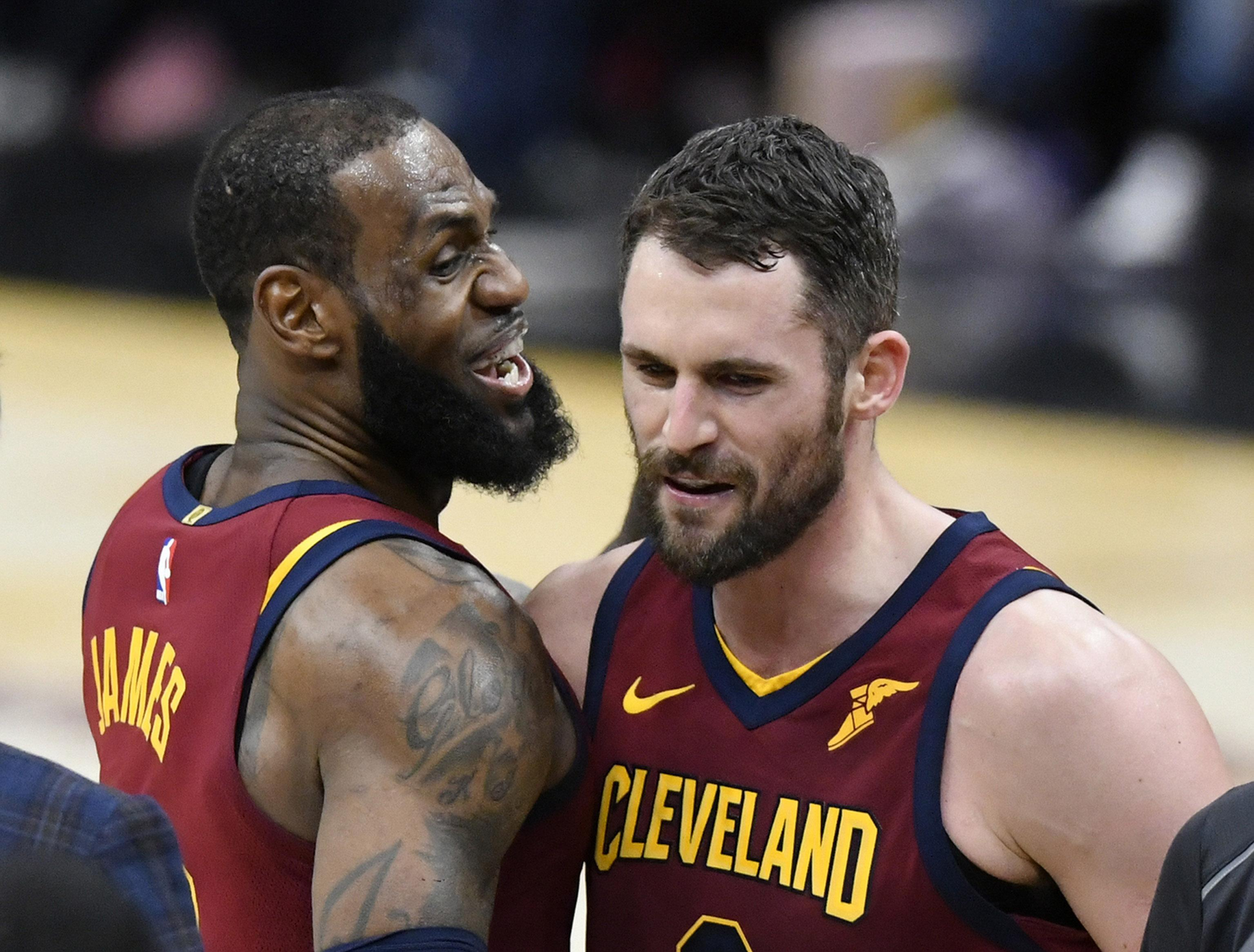 Kevin Love would give an Edge LeBron James
