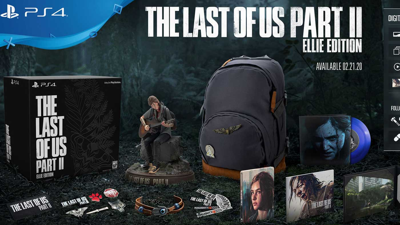 The Last of Us Part 2 Pre-Order Exclusive Items on Ellie's Collector Edition