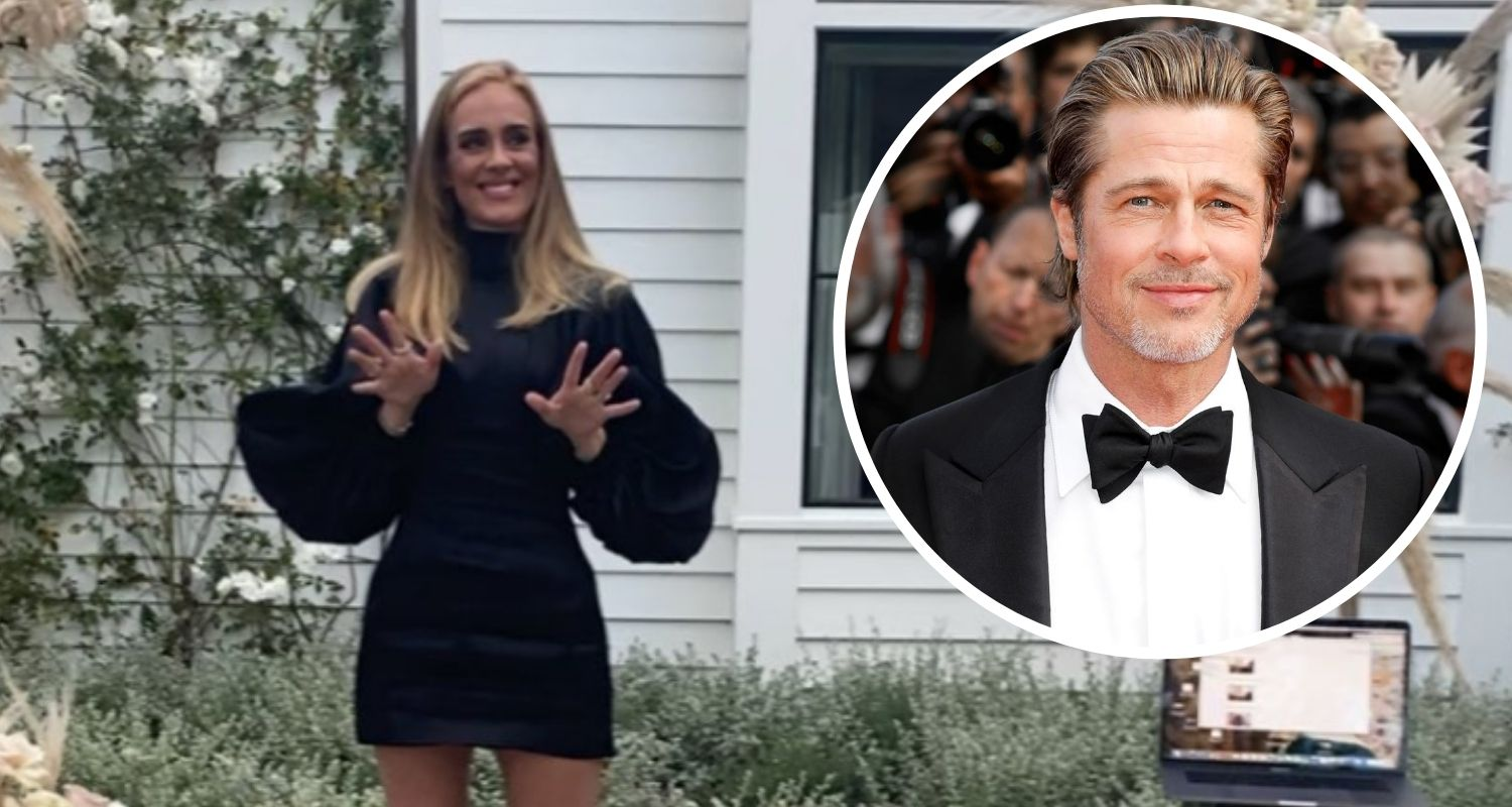 Brad Pitt and Adele are Flirting and Hanging out
