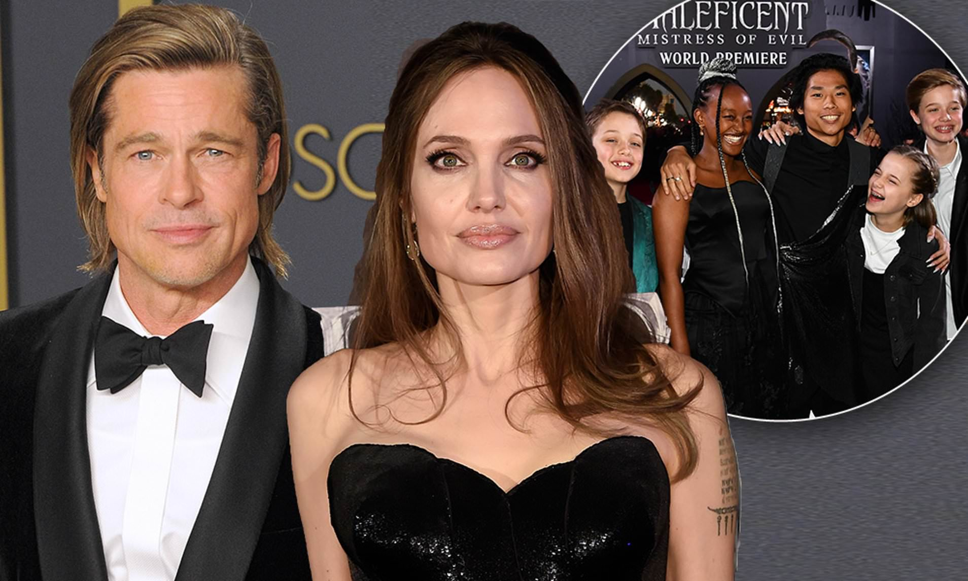 Brad Pitt and Angelina Jolie are back Together for the Kids