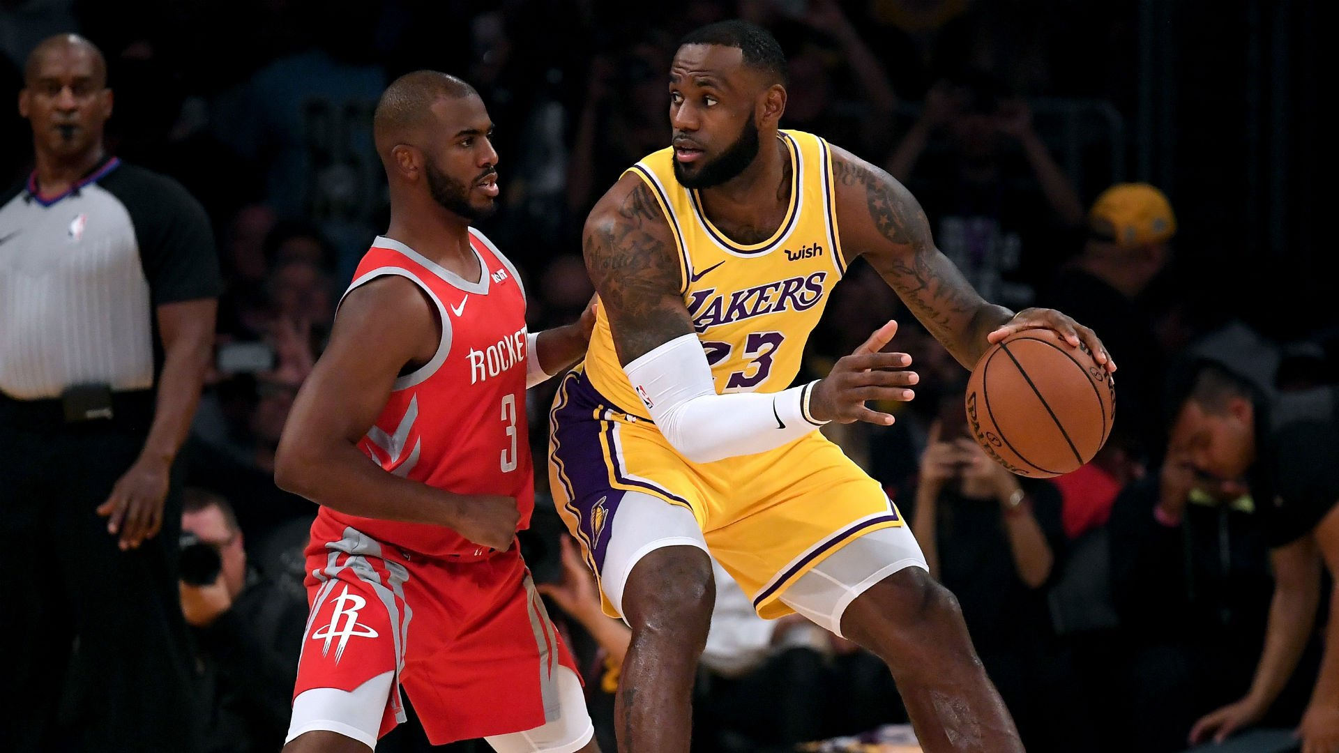 LeBron James and Chris Paul in Lakers