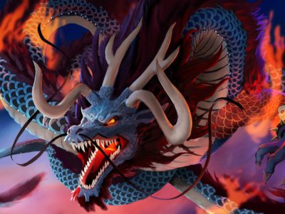One Piece Chapter 987 Spoilers, Leaks- Kaido transforms into Dragon to fight the Scabbards