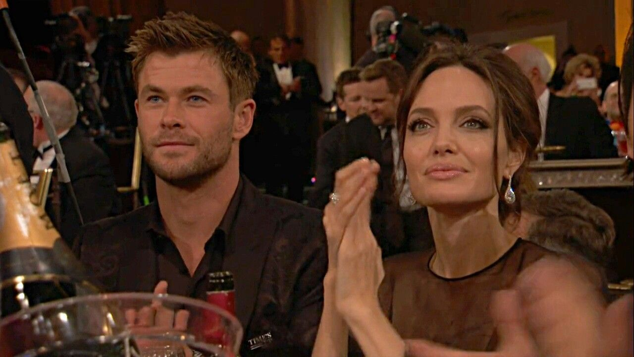 Angelina Jolie Flirting with Chris Hemsworth is causing Trouble in his Marriage