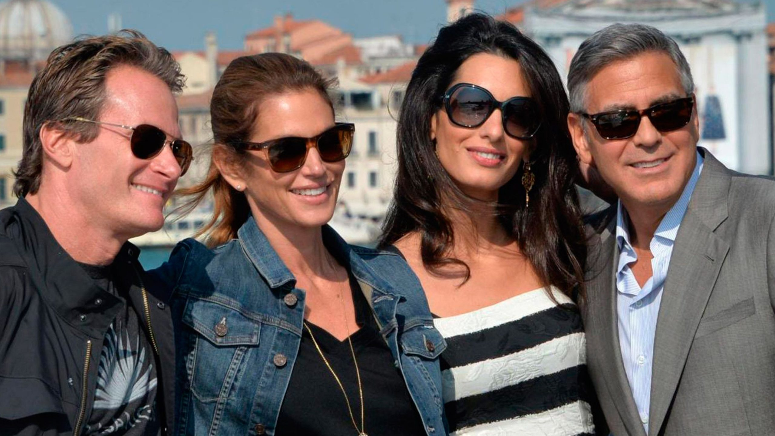 George and Amal Clooney with Cindy Crawford and Rande Gerber