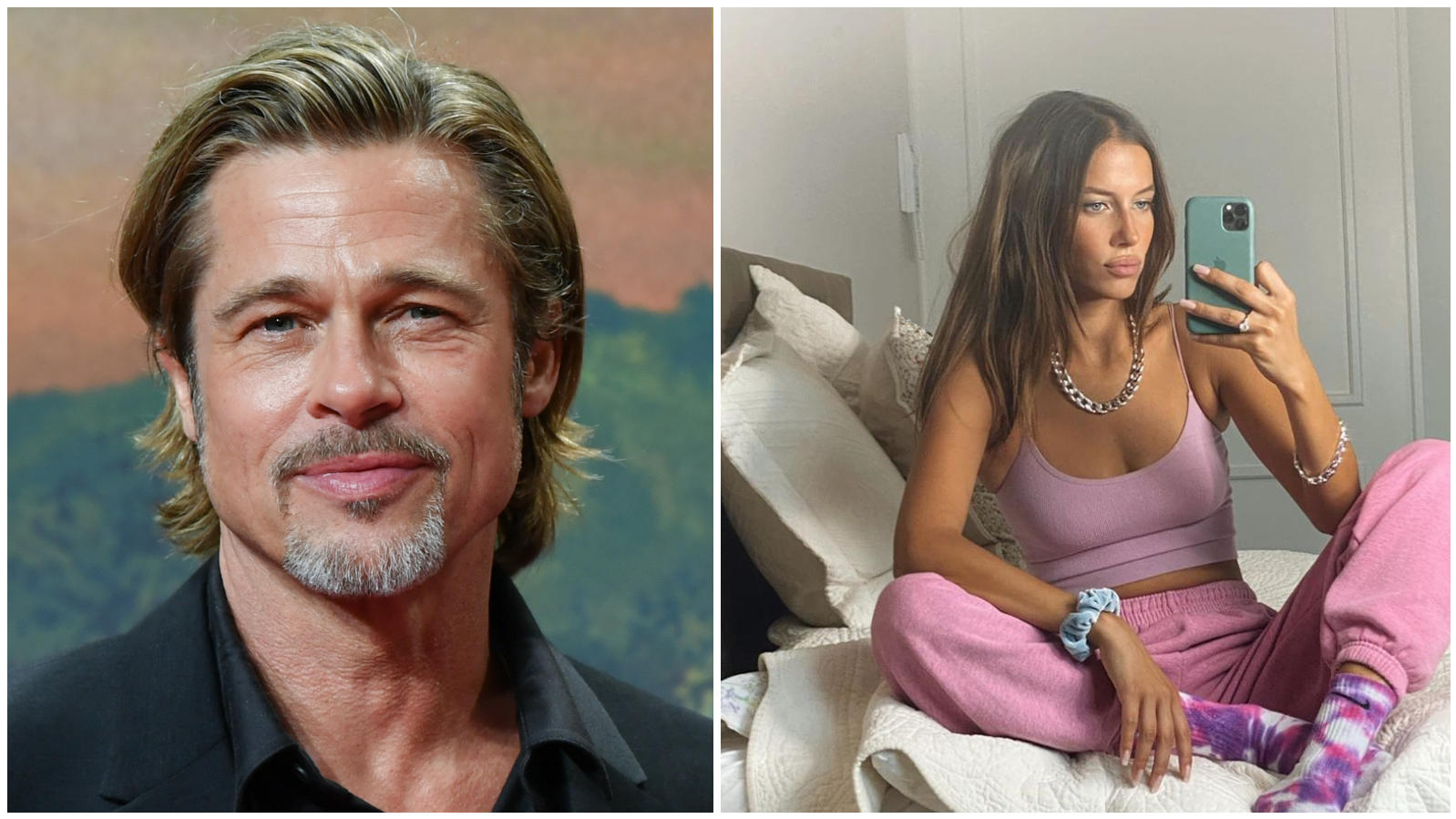 Brad Pitt and Nicole Poturalski faking the Relationship for Brand Values