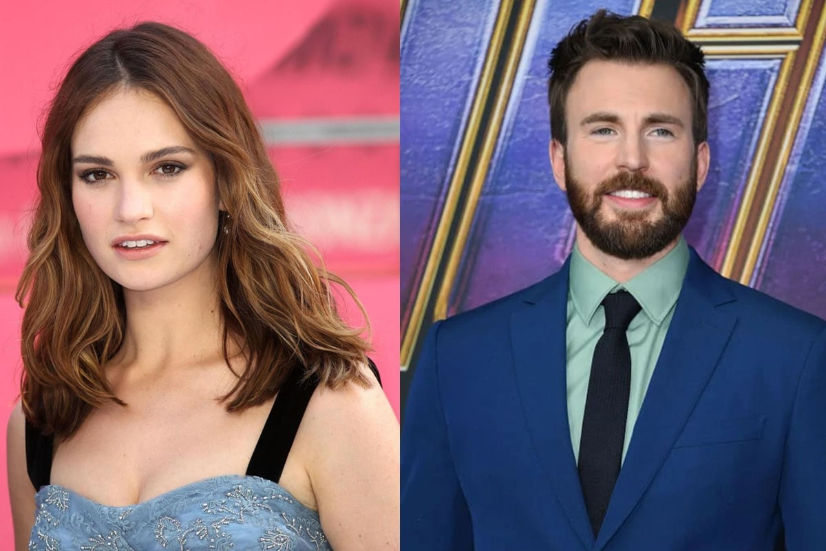 Chris Evans, Lily James Dating Rumors and Real Truth