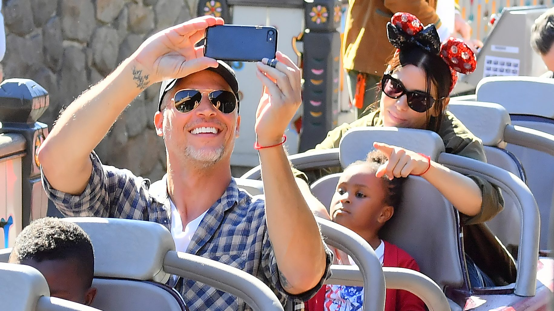 Sandra Bullock Bryan Randall and kids