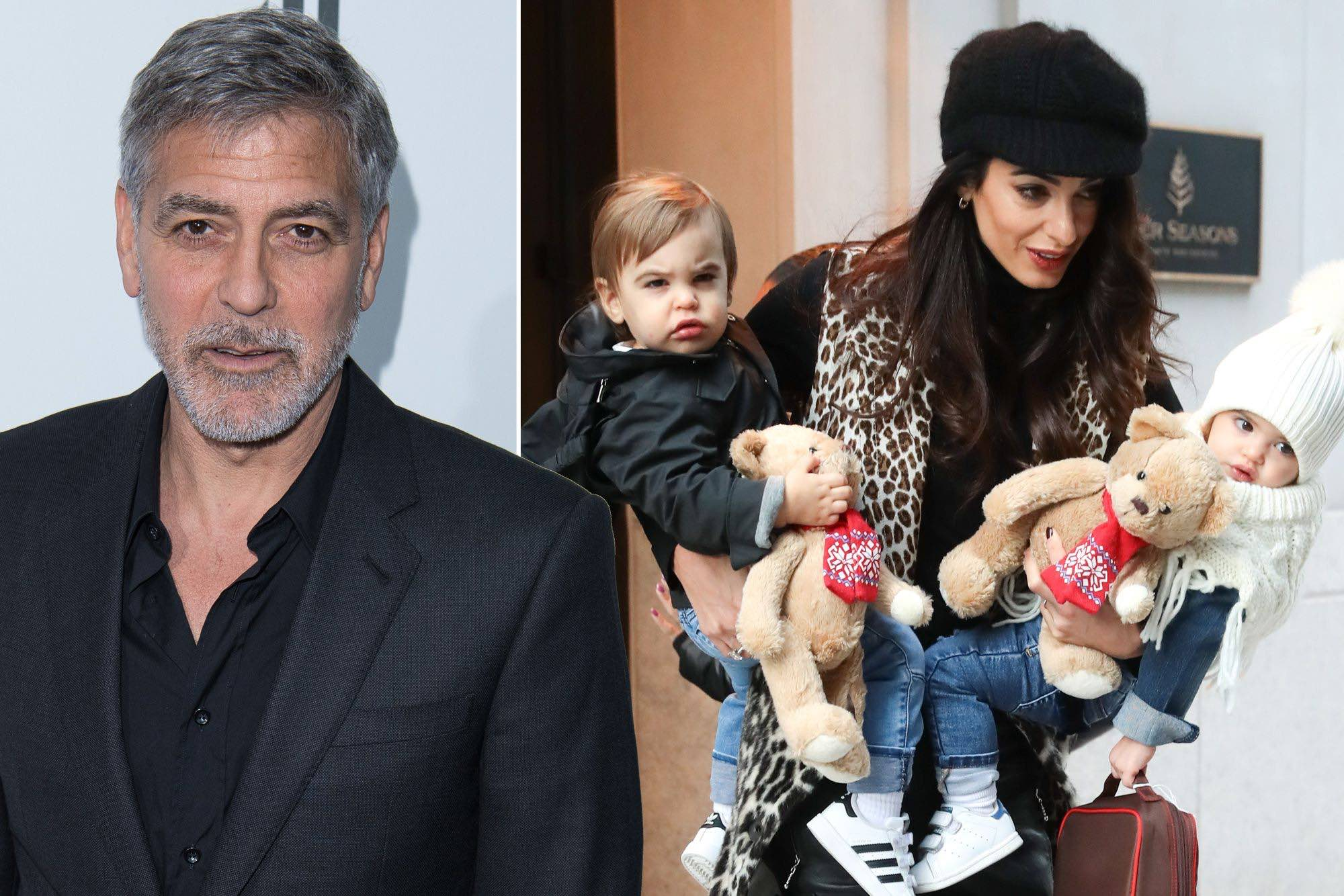 George and Amal Clooney twins