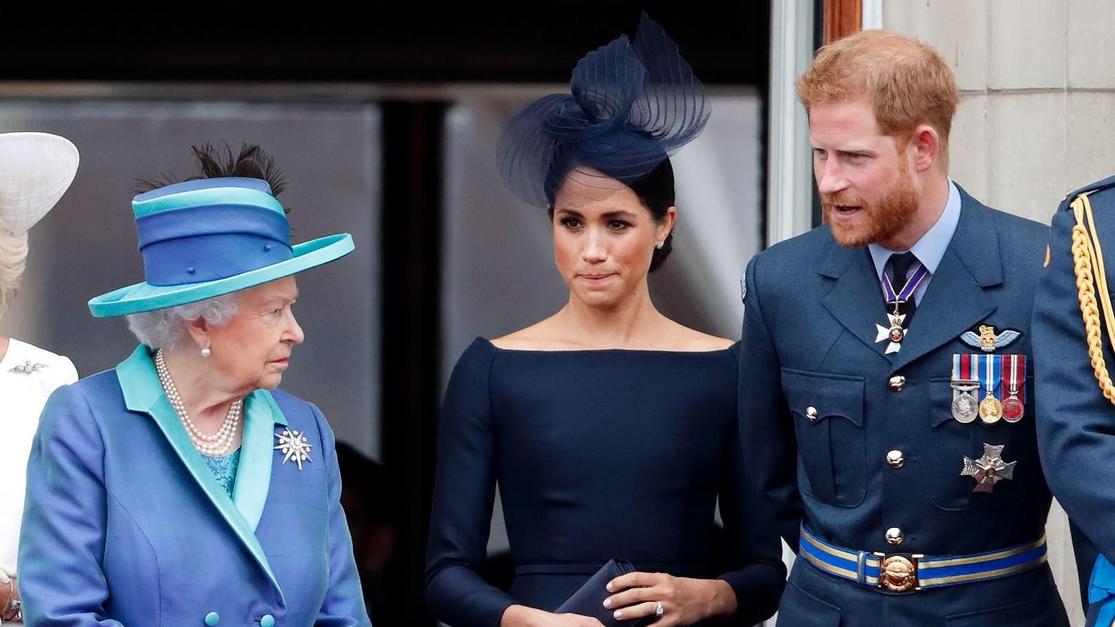 Meghan Markle Prince Harry with the Queen