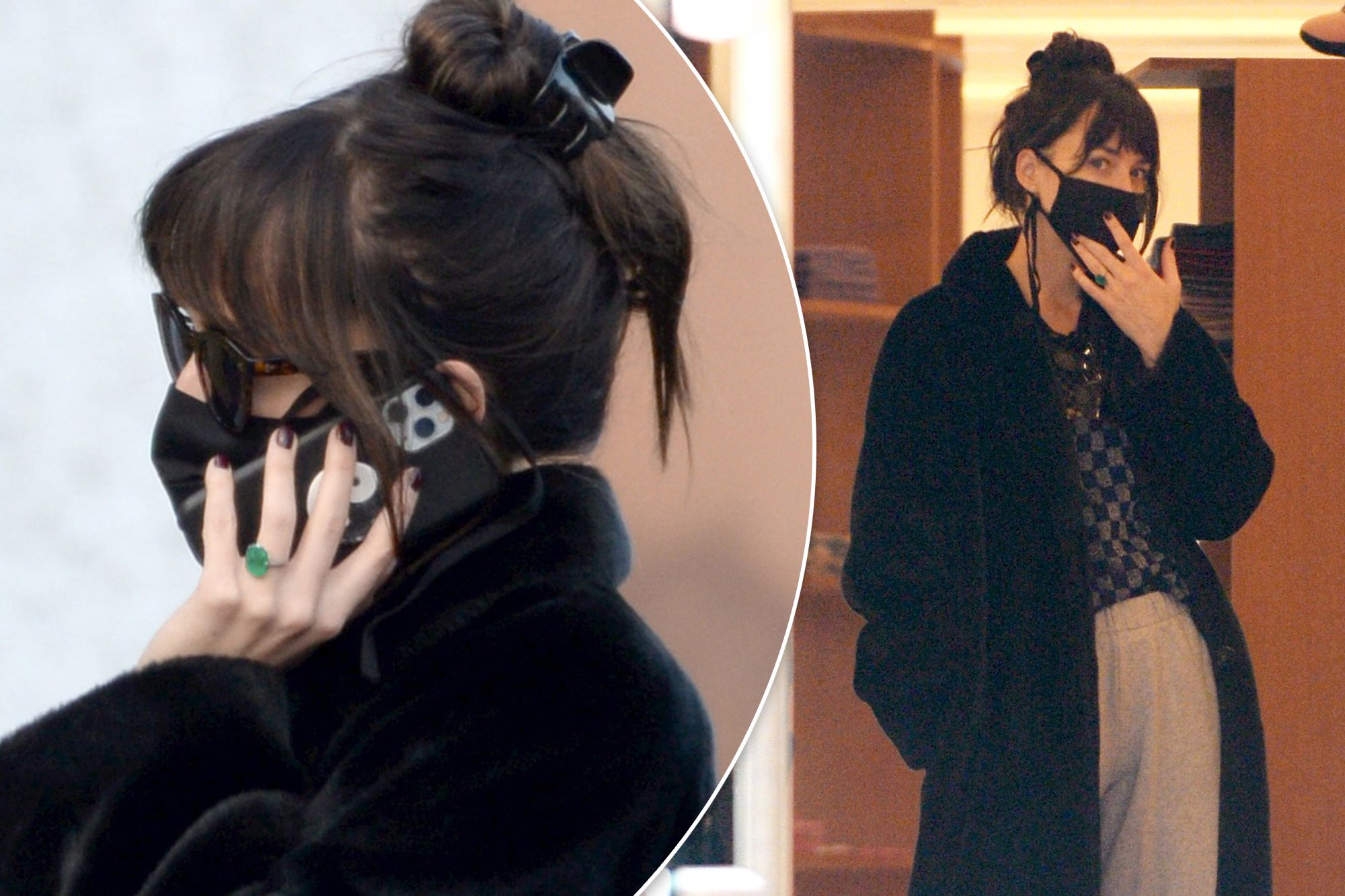 Dakota Johnson is Spotted with a Ring after Engagement to Chris Martin